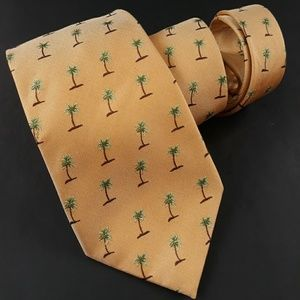 Tommy Bahama Gold Palm Tree Silk Tie